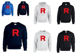 TEAM ROCKET team rocket pokemon BLACK HOODIE funny shirt ALL SIZES!!