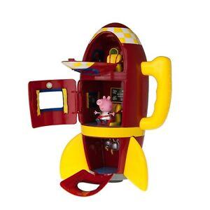 PEPPA-PIG-039-S-nave-espacial-Rojo-Cohete-con-sonido-efectos-juguete-NUEVO