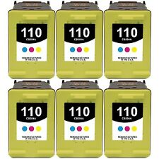(6-Set) No.110 Tri-Color Ink Cartridges for HP PhotoSmart |A448 A510 A512 A516|
