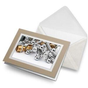 Greetings-Card-Biege-Plumbing-Tools-Trade-Dad-Uncle-Mens-24041