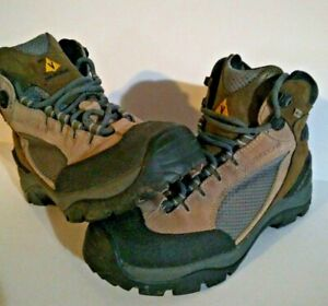 Vasque Mens Gore Tex Hiking Trail Boots Brown Black Lace Up Leather 7433 5.5 M