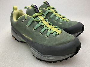 8a49604b4cc Details about PATAGONIA Green Gray Suede Women's Trail Hiking Shoes Size 5  Women's