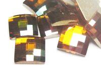 2pcs Swarovski® Copper Crystal Chessboard 10mm ref 2493