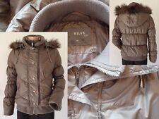 Luxus Pur Nilva Keqi Winterjacke Jacke Kapuze mit Fellrand olivgrün Gr M 1A