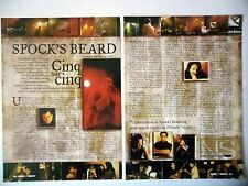 COUPURE DE PRESSE-CLIPPING :  SPOCK'S BEARD [2pages] 11/2000 Neal Morse,V