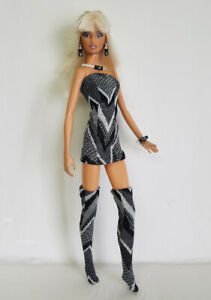 Model-Muse-Barbie-Doll-Clothes-Sexy-Dress-Stockings-and-Jewelry-Fashion-NO-DOLL