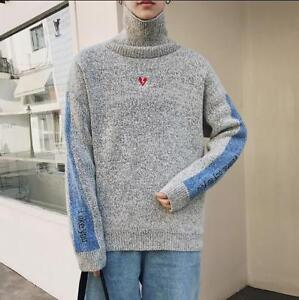 Image is loading Warm-Men-Korean-Embroidery-Fashion-Knit-Autumn-Sweater- 9bcd72a74