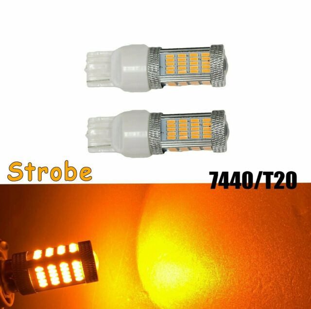 Strobe Rear Signal 92 LED Bulb Amber T20 7440 7441 992 B1