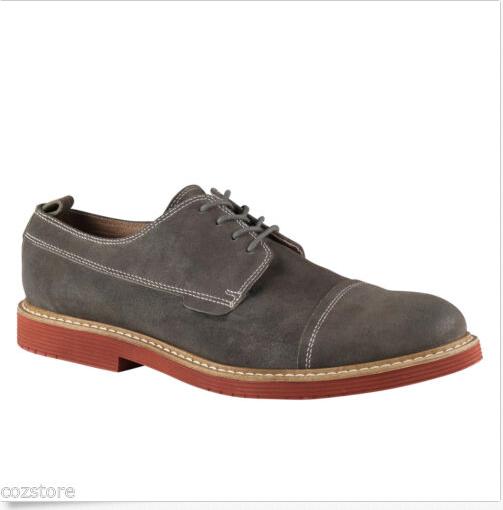 Aldo Homan Décontracté Lacet Casquette Orteil Oxford Chaussures Daim Gris 43.5