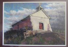 New Mexico Church Original Pastel by M Clark