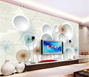 3D Circle White 562 Wallpaper Murals Wall Print Wallpaper Mural AJ WALL AU Lemon