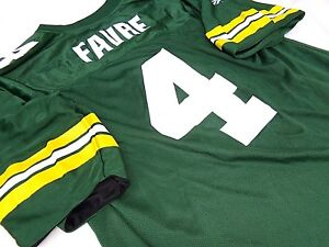 best sneakers 084bb 9672f Details about HOF Brett Favre Green Bay Packers Adult Reversible Reebok  Jersey SOUTHERN MISS