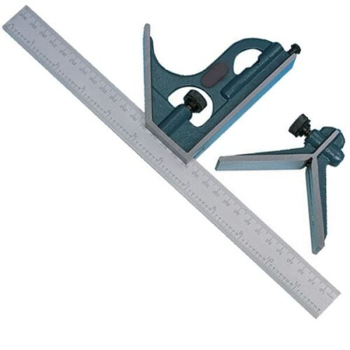 """Scriber And Angle Finder 12"""" 305mm Carpenters Combination Square With Level"""