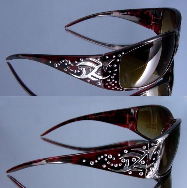 Top Damen Sonnenbrille schwarz mit Tribal UV400 mit Schutzpass 10090