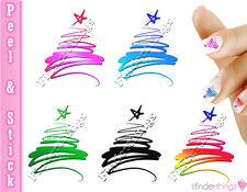 Christmas Tree Swirl Variety Nail Art Decal Sticker Set CMS903