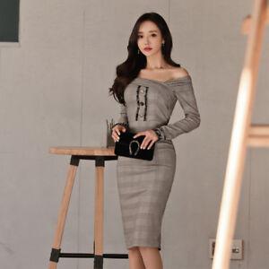 9a724ee7f5ee Caricamento dell immagine in corso Elegante-vestito-abito-corto-tubino- grigio-comodo-ginocchio-