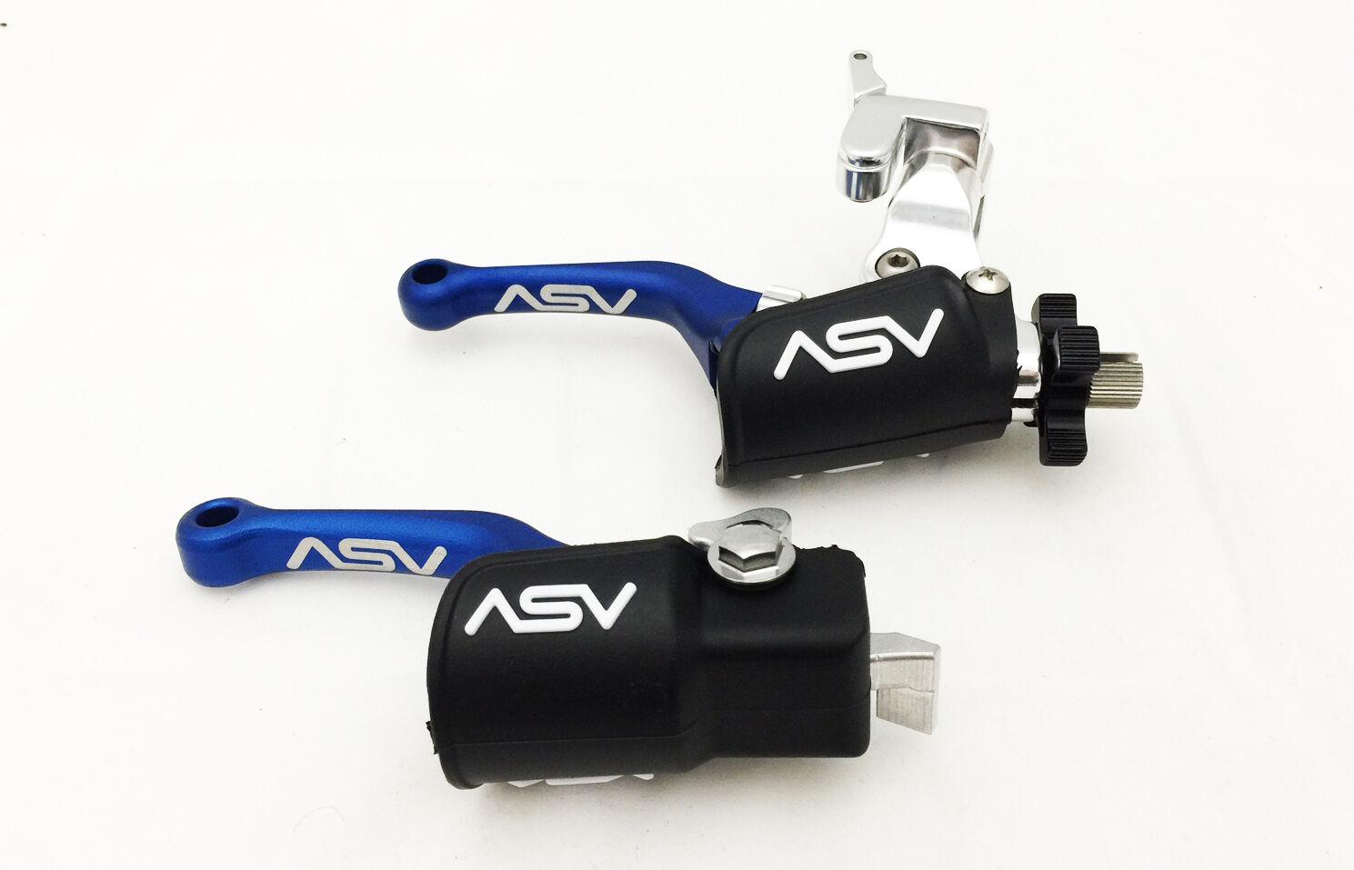 Asv C6 Shorty Shorty Shorty Paar Pack Brems Kupplungshebel Hot Start Blau TRX 450r 2004 - 2005 8795a6