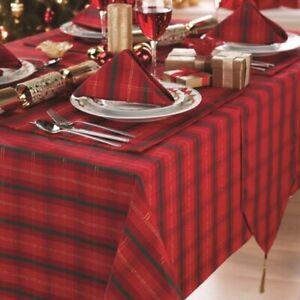 Tartan Christmas Tablecloth Ebay