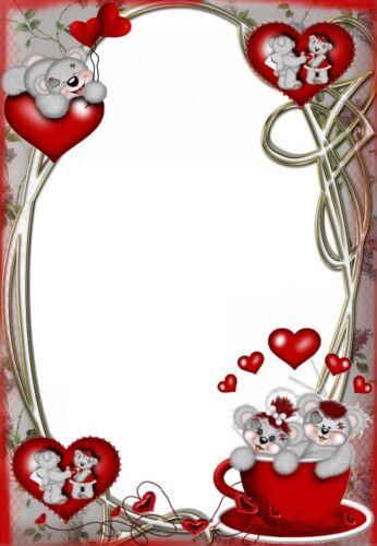 20 Blatt Briefpapier Motivpapier mit Herzen und Bärchen verliebt Liebe