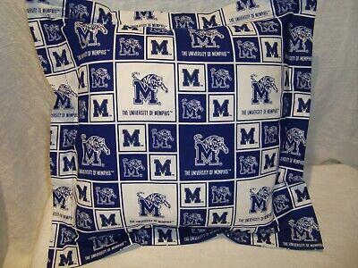 University Of Memphis Tigers 14 Cotton Fabric Throw Pillow Cover Sham Washable Ebay