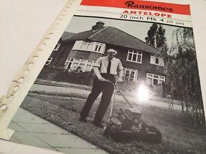 Ransomes Sims & Jefferies Antilope Tondeuse 1960s/70 Rare Original Sales Brochure-afficher Le Titre D'origine