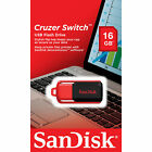 SanDisk 16GB CZ52 Cruzer Switch USB 2.0 Flash Drive Thumb Pen Key Memory Stick