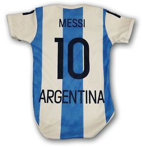 best service 74195 1c058 Details about Argentina Messi #10 Soccer Jersey Baby One Piece Jumpsuite  Mameluco Mundial 2018