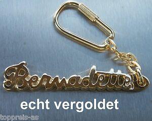 Edler SchlÜsselanhÄnger Bernadette Echt Vergoldet Gold Name Keychain Keyring Neu Uhren & Schmuck