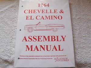 1964 64 chevrolet chevy chevelle malibu el camino assembly manual ebay rh ebay com chevrolet assembly manual 1969 chevelle assembly manual pdf