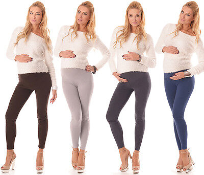 Clever Stretchy Maternity Leggings Over Bump Full Length Hq Size 8 10 12 14 16 18 1000 Waren Des TäGlichen Bedarfs