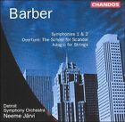 Barber: Symphonies Nos. 1 & 2; The School for Scandal Overture; Adagio fort Strings (CD, Oct-1998, Chandos)