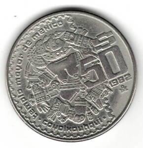 Mexiko-50-Peso-1982-Cu-Ni-Sehr-schoen-Schoen-Kat-Nr-79-Kat-Preis-5-00