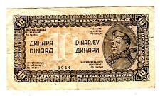 Yougoslavie Yugoslavia Billet  10 DINARA 1943 - 1944 P50 WWII   SOLDAT BON ETAT