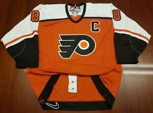 detailed look 652b7 3aa1a Details about Eric Lindros Vintage Nike Authentic Philadelphia Flyers Jersey