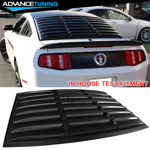 For-05-14-Ford-Mustang-GT-V6-V8-Rear-Window-Louver-Matte-Black-Cover-ABS