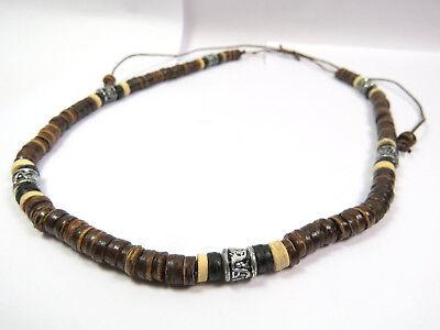 Vornehm Halskette Holz Perlen Naturschmuck Braun Collier Surfer Ethno Inka Unisex Neu!!! Mit Traditionellen Methoden