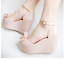 Ladies Melissa Tops Bow Women/'s Wedge Platform Buckle jelly High Sandals Shoes
