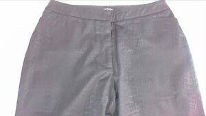 New-York-amp-Co-City-Stretch-Pants-Womens-SZ-2-Snake-Print-Club-29-x-31-Actual