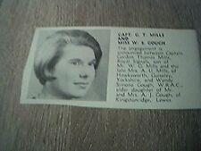 ephemera 1967 picture sussex engagement g t mills miss w s gough guiseley lewes