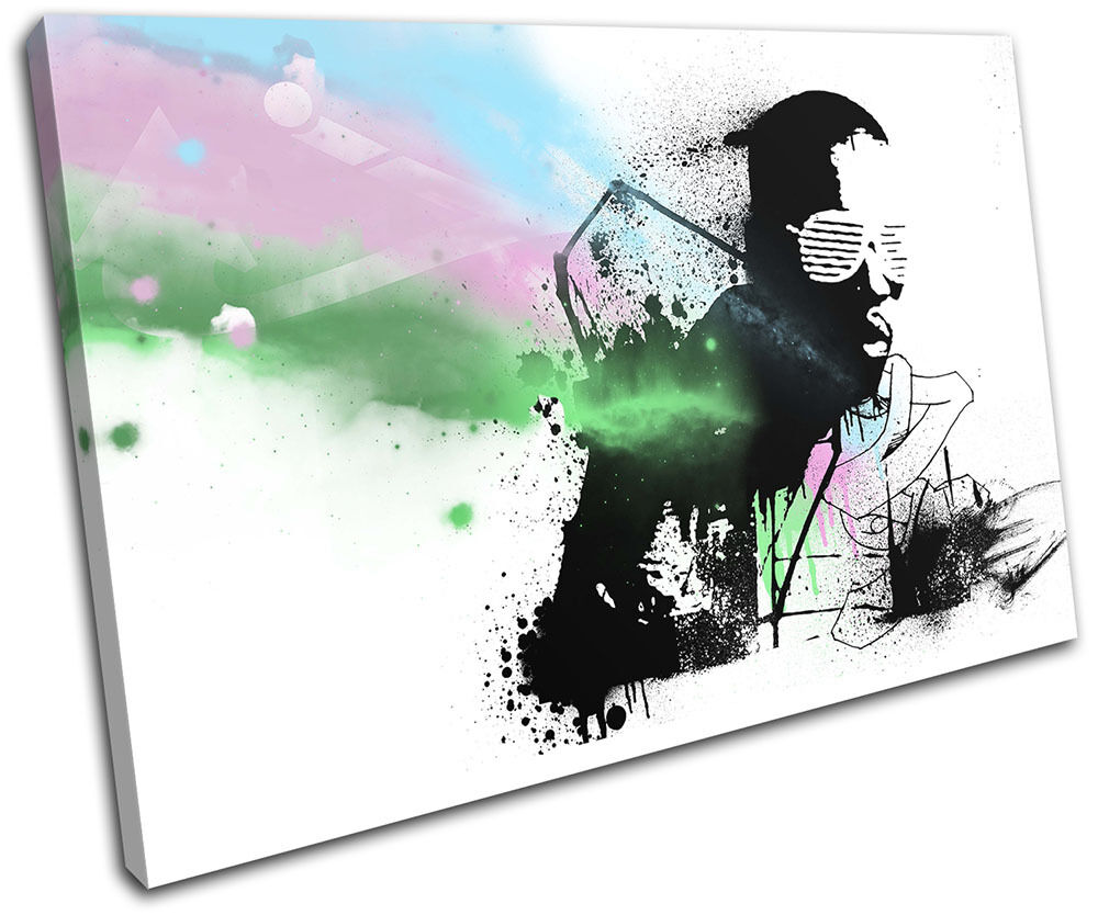 Kanye West Grunge Abstract Musical SINGLE TOILE murale ART ART ART Photo Print bcec99