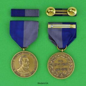 Civil-War-Campaign-Medal-amp-Mounted-Ribbon-Bar-USA-ARMY-ring-top-USA-made
