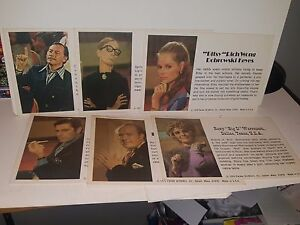 Masterpiece-The-Art-Auction-Game-Piece-Replacement-Parts-Set-of-6-Biography-Card