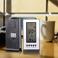 LCD Digital Thermometer Innen Außen Hygrometer Thermohygrometer Kalender Wecker