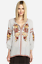 JOHNNY-WAS-Embroidered-ARTEMIS-Floral-PEASANT-BLOUSE-Workshop-Stripe-XS-245 thumbnail 6