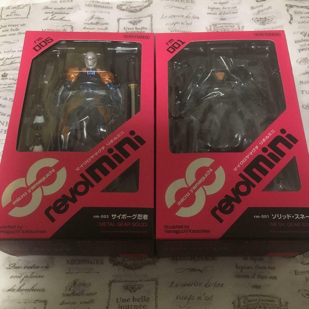 REVOL MINI Metal Gear Solid Snake Solid rm-001 Cyborg Figure rm-005 SET Kaiyodo