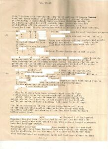 Coca Cola Recipe - Formula - Letter January 15,1943 - Historical Document