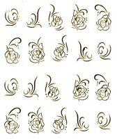 One Stroke Sticker, Blumen, Rose,Tattoo, Aufkleber  Nr.1379