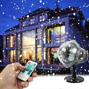 Snow Falling Led Laser Projector Light Xmas Snowflakes