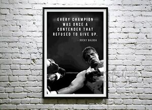 Rocky Balboa Every champion was once a contender that refused to give up. poster