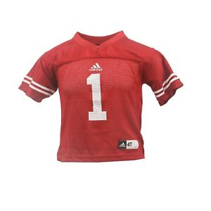 Wisconsin-Badgers-Official-NCAA-Adidas-Infant-amp-Toddler-Size-Football-Jersey-New